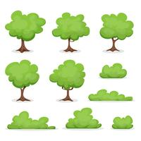 Träd, Häckar och Bush Set