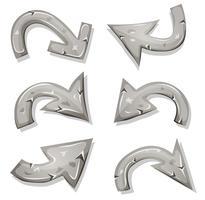 Stone Arrows Set för Ui Game vektor