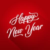 Frohes neues Jahr-Beschriftungskarte