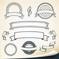 Doodle banners och designelement vektor