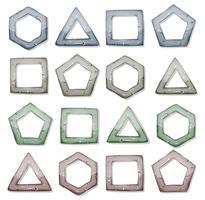 Steinquadrate, Dreiecke und andere Formen eingestellt