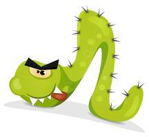 Grön Caterpillar Karaktär vektor