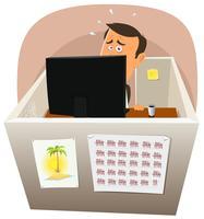 Depressiv arbetare på jobbet vektor