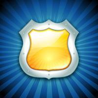 Sicherheitsschutz-Schild-Symbol vektor