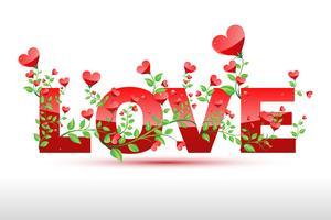 Kärlek Växt vektor