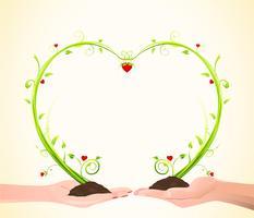 Växande kärlek vektor