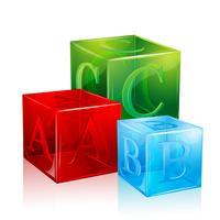 Alfabetblock vektor