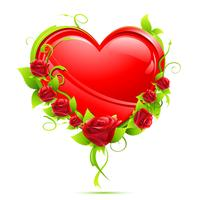 Hjärta med rosor