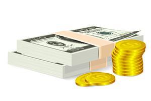 Geldschein und Münze