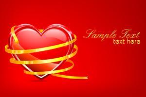 Valentinskarte vektor