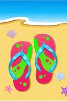 Slipper på stranden