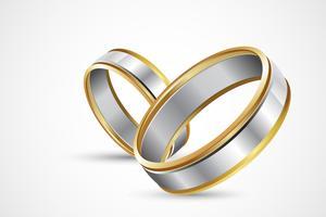 Paar Ringe vektor