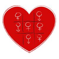 tic tac toe spel med sex symbol
