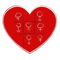 Tic Tac Toe-Spiel mit Sex-Symbol