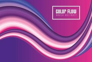 lila Farbfluss Poster mit lila Hintergrund vektor