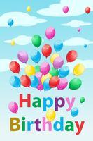 Geburtstagskarte mit Luftballons vektor