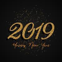 Glitter Happy New Year design vektor