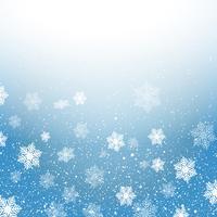 Weihnachtshintergrund mit Schneeflocken vektor