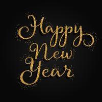 Glittery Happy New Year bakgrund vektor