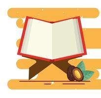 Koranbuch heiliges offenes Symbol vektor