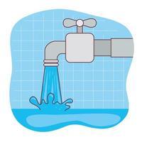 Metall-Wasserhahn-Vektor-Design vektor
