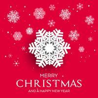 Weihnachtshintergrund mit Schneeflocken 1509