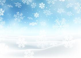 Snöig jullandskap