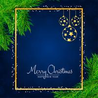 Stilvoller dekorativer Hintergrund der frohen Weihnachten vektor