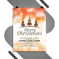 Abstrakt Merry Christmas party flyersmall