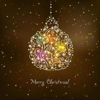 Weihnachten dekoratives Hintergrunddesign vektor