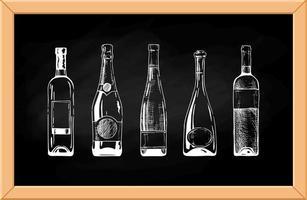 Vektor-Set von Bierflaschen vektor
