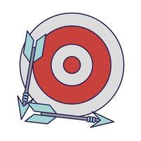 Ziel Dartscheibe mit Pfeilsymbol vektor