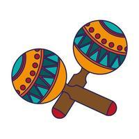 maracas lateinisches instrument isoliert vektor