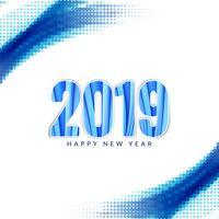 Abstrakter moderner dekorativer Hintergrund des neuen Jahres 2019 vektor