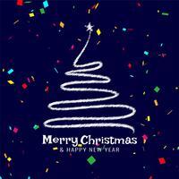 God julfestival med konfetti vektor