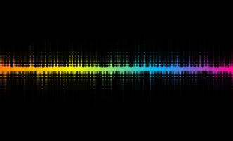 Halbton-Schallwellendesign vektor