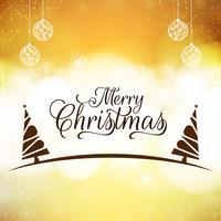 Abstrakt Glad julfestival hälsning bakgrund vektor