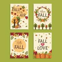 Der Herbst liegt in der Luft vektor