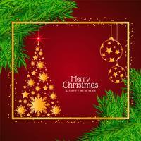 Snygg dekorativa god jul bakgrund vektor