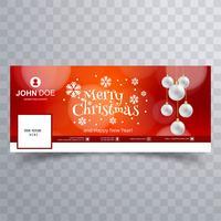 Schöne Schneeflocke der frohen Weihnachten mit Facebook-Fahne Templa vektor