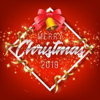 God jul och gott nytt år 2019 hälsningskort bakgrund vektor