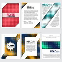 Halbton Flyer Stil Hintergrund Design-Vorlage