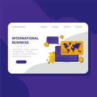 internationell verksamhet vektor
