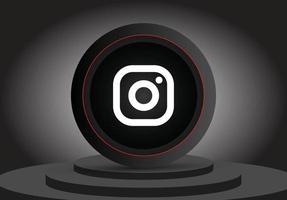 Social-Media-3D-Instagram-Symbol vektor
