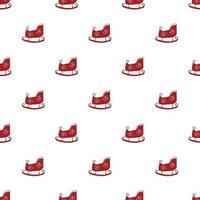 nahtloses Muster für Neujahr und Weihnachten, nahtloses Muster für handgezeichnete Schlittenkritzeleien. Hintergrundvektorillustration vektor