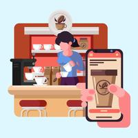 Online-Lebensmittelbestellung vektor