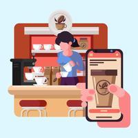 Online matbeställning vektor
