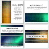 Halbton Flyer Stil Hintergrund Design-Vorlage vektor