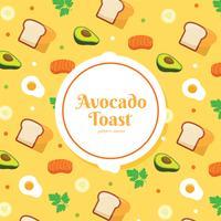 Avocado-Toast-Muster-Vektor vektor
