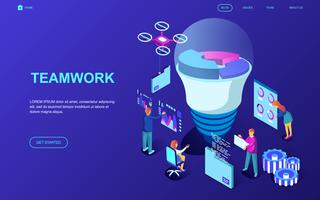 Teamarbeit-Web-Banner vektor